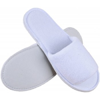 Lote de 10 pares de blanco abierto de zapatillas esponja desechable