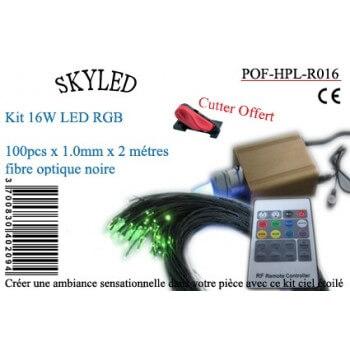 Kit fibra óptica RGB 16 W Skyled 100 negro las fibras