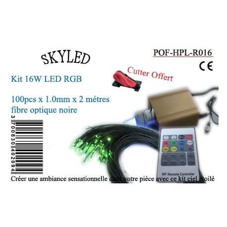 Kit fiber optic RGB 16 W Skyled 100 black fibers