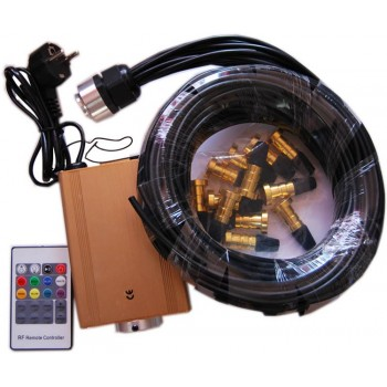 Kit fiber optic black RGB 16W Skyled with heads in gold