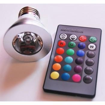 Color RGB LED bombilla con control remoto