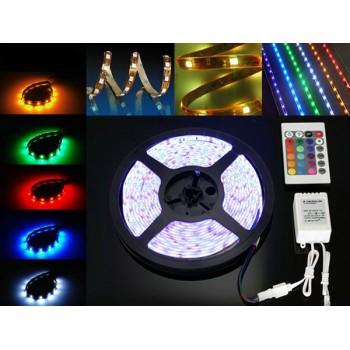 Cinta de LED RGB con control remoto + transformador