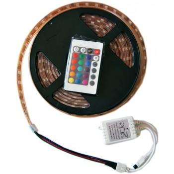 Ruban à LED RGB avec télécommande + Transformateur