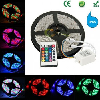 5 m RGB colors with remote IP65 LED tape