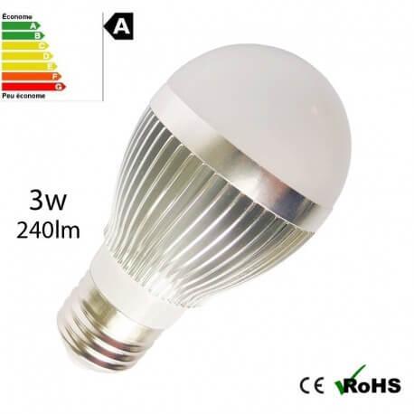 Neutral LED 3w E27 white bulb