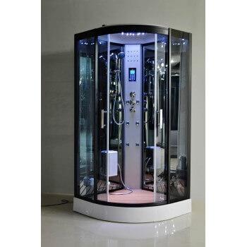 Dampfdusche LUTECE® Vollausstattung für Badezimmer Spa, Wellness Duschkabine  LED Radio Touchpanel Bluetooth 80x80 cm