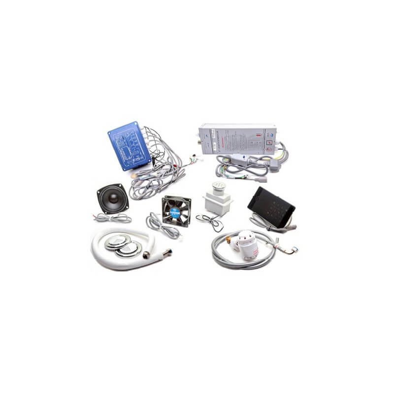Complete kit for small volume hammam (3 m3) Lutèce LCD display