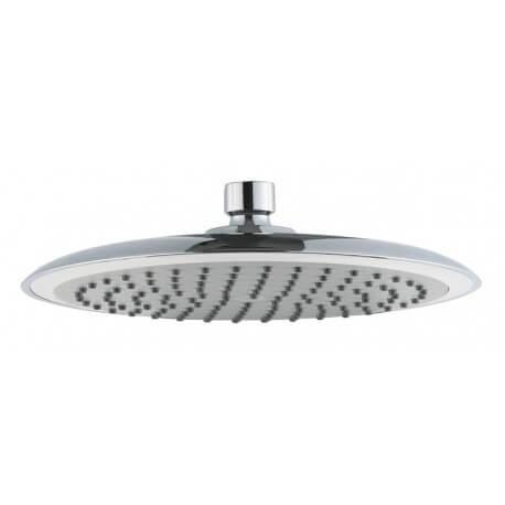Cabeza de ducha redonda de 23 cm de diámetro ABS cromado