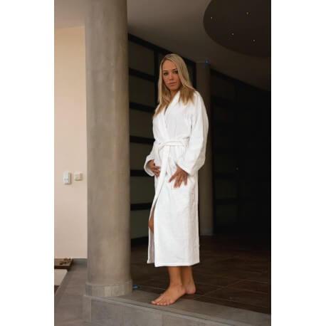 Mixed bathrobe size S 100% cotton 420gr white