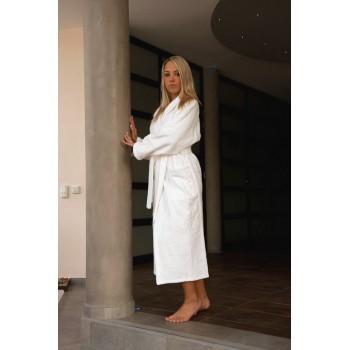 Bademantel D/H Größe XL 100% Baumwolle 420 g / m2 Weiß