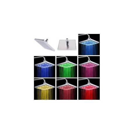Showerhead square led 7 colors