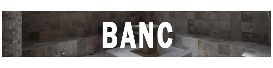 Banc pour hammam et douche à l'italienne