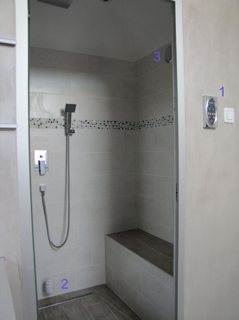 R alisations de hammam privatifs et professionnels desineo - Extracteur de vapeur pour salle de bain ...